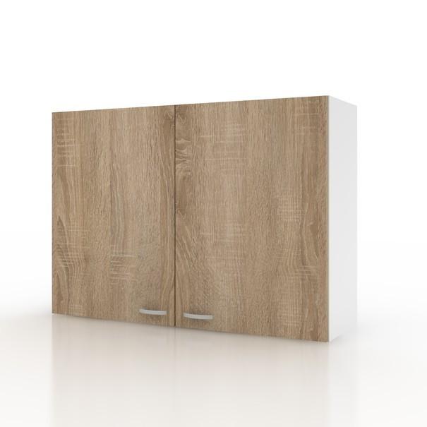 Sconto Závěsná horní skříňka POLAR II dub sonoma/bílá, 100 cm