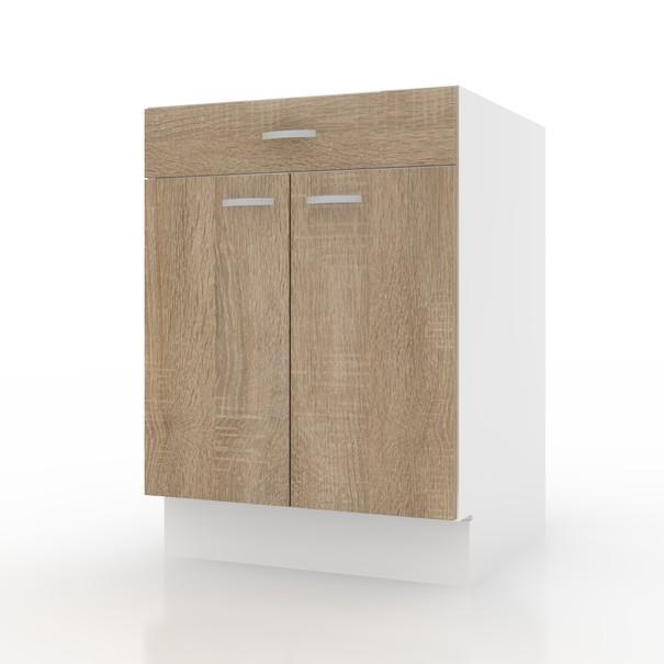 Sconto Spodní skříňka POLAR II dub sonoma/bílá, 60 cm