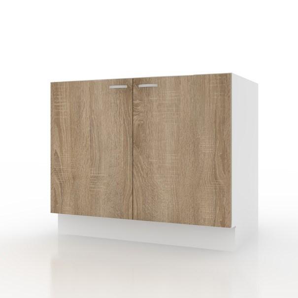 Sconto Spodní dřezová skříňka POLAR II dub sonoma/bílá, 80 cm