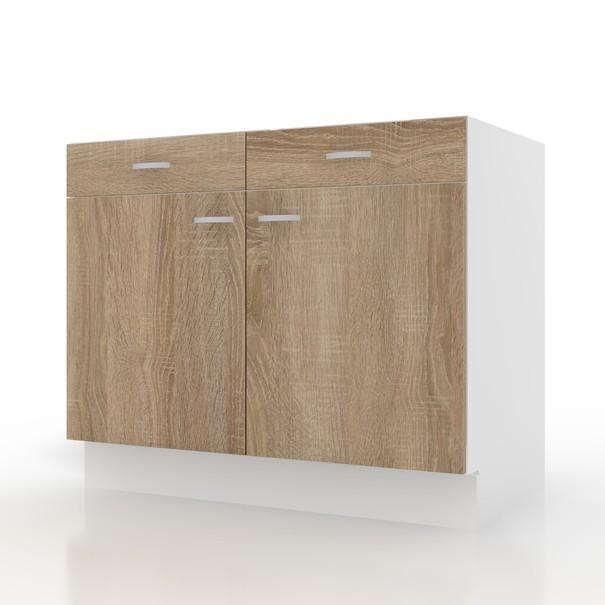 Sconto Spodní skříňka POLAR II dub sonoma/bílá, 100 cm