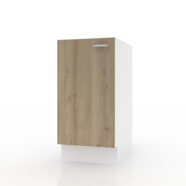 Sconto Spodní skříňka POLAR II buk/bílá, 40 cm