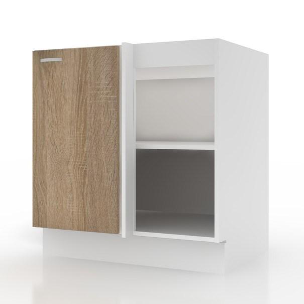 Sconto Spodní skříňka POLAR II dub sonoma/bílá, 80 (100) cm