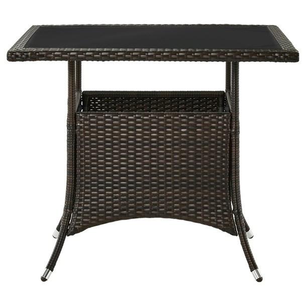 Sconto Zahradní stůl MODENA 3 hnědá/černá