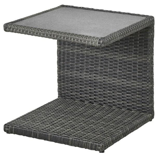 Sconto Přístavný stolek PADUA šedá
