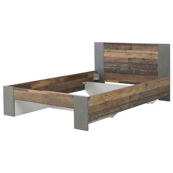 Sconto Postel CLIF staré dřevo/šedá, 140×200 cm