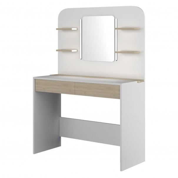 Sconto Toaletní stolek MISTERE dub/bílá