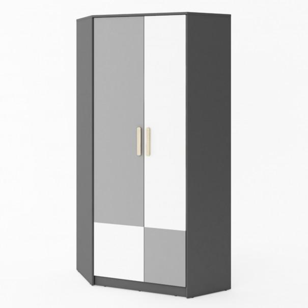 Sconto Rohová šatní skříň POK PO-01 vícebarevná