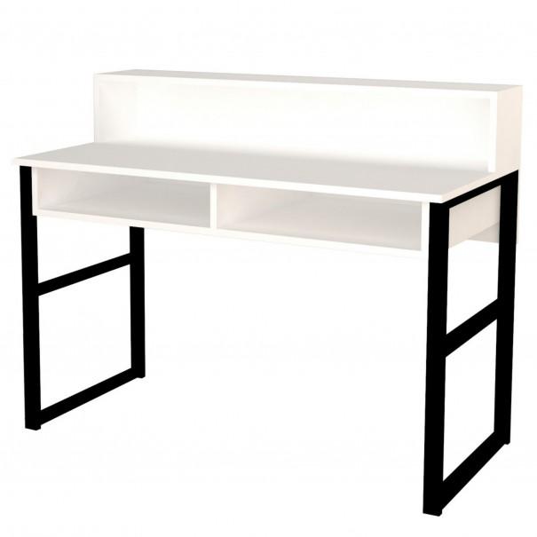 Sconto Pracovní stůl KEMO bílá/antracitová