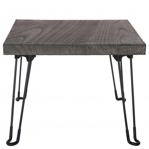 Sconto Přístavný stolek NABRO 1 pavlovnie/šedá