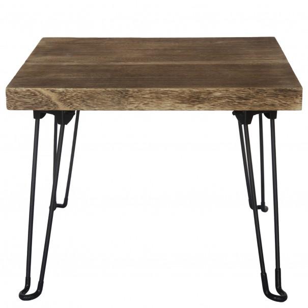 Sconto Přístavný stolek NABRO 1 pavlovnie/hnědá