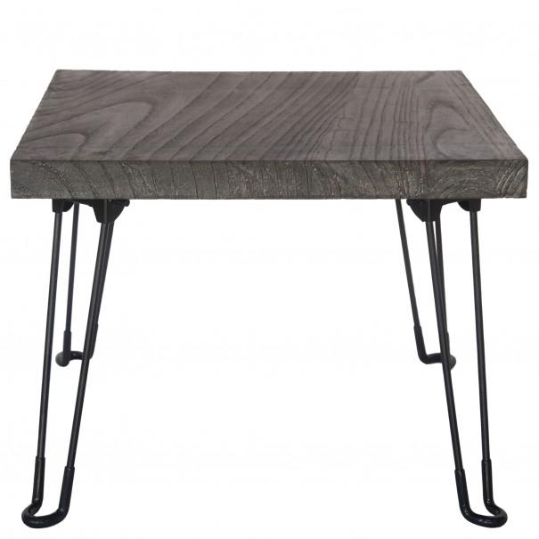 Sconto Přístavný stolek NABRO 2 pavlovnie/šedá