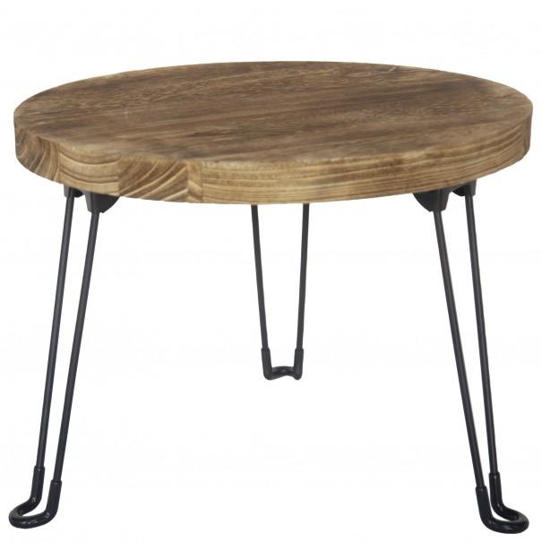 Sconto Odkládací stolek NAMUS 1 pavlovnie/hnědá