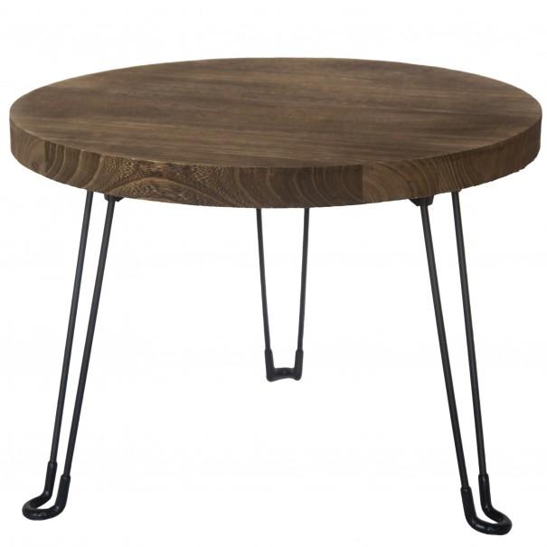 Sconto Odkládací stolek NAMUS 2 pavlovnie/hnědá