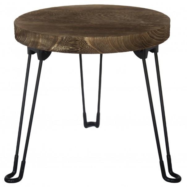 Sconto Odkládací stolek NAMUS pavlovnie/hnědá