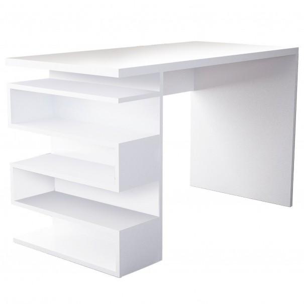 Sconto Psací stůl SNAKE bílá